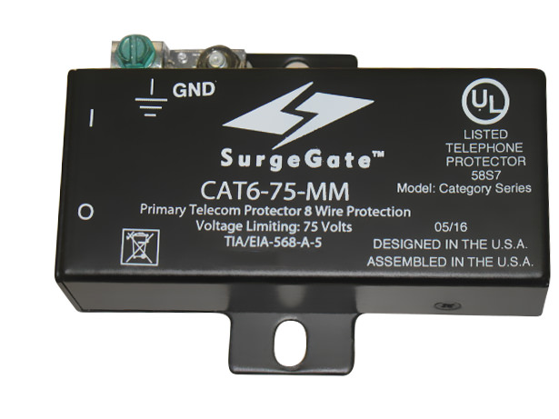 CAT6-75-MM Modular Ethernet Surge Protector